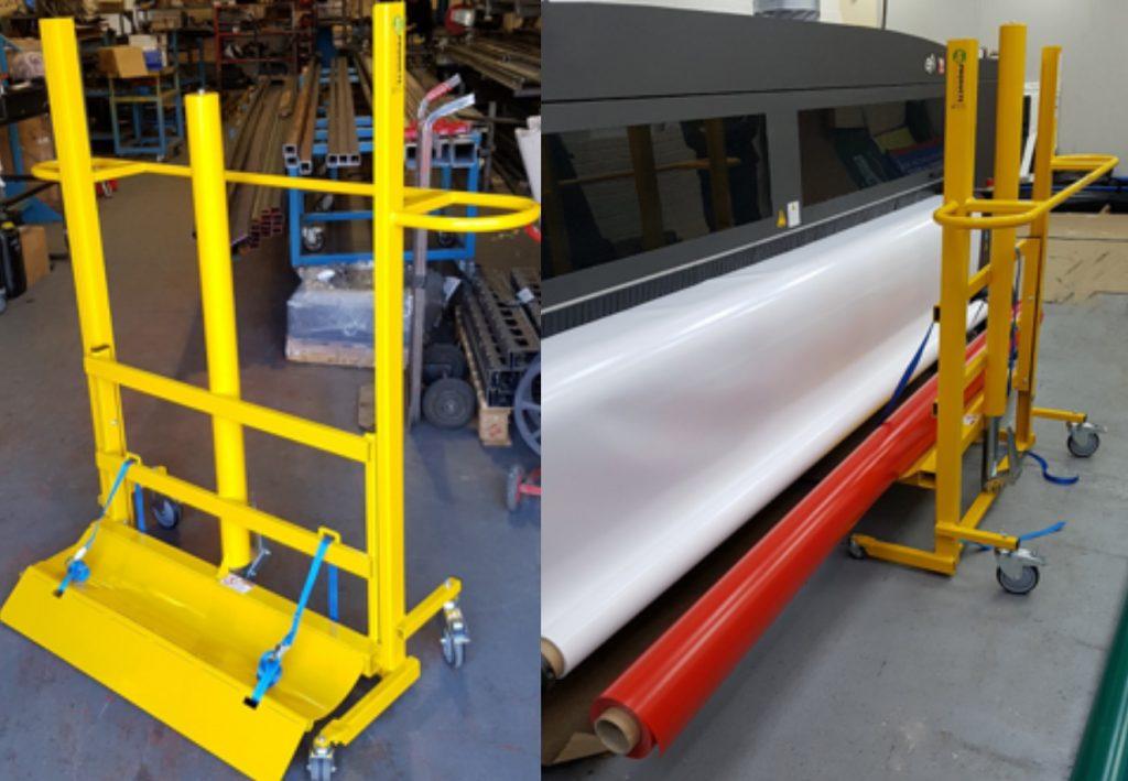 Bespoke large fabric roll lifting equipment