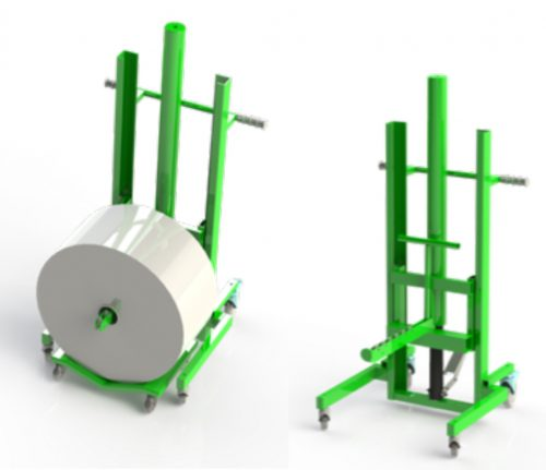 paper and print roll lifter